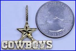 14K Yellow Gold Michael Anthony MA Dallas Cowboys Pendant 1x1-1/4 (LP3041469)