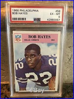 1966 Philadelphia Bob Hayes Rookie RC PSA 6 Bullet Bob