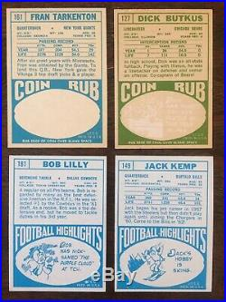 1968 TOPPS FOOTBALL 96% PARTIAL NEAR COMPLETE SET 211/219 EX+ missing 8 cards