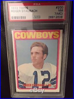 1972 Roger Staubach Topps #200 Graded PSA 7 (MC) NM Near Mint Rookie RC Cowboys