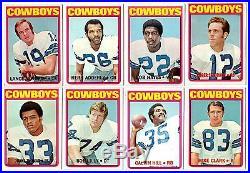 1972 Topps DALLAS COWBOYS team set-R. Staubach RC, B. Lilly