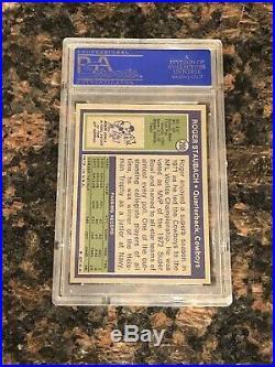1972 Topps Roger Staubach Dallas Cowboys #200 Football Card PSA 7