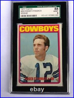 1972 Topps Roger Staubach Dallas Cowboys #200 RC Rookie SGC 88 NM/MT 8