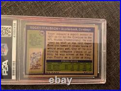 1972 Topps Roger Staubach Rookie Card #200 PSA 4