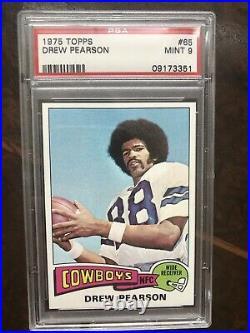 1975 Topps Drew Pearson Rookie PSA 9