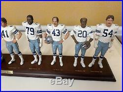 1977 Dallas Cowboys Danbury Mint Figurine Cowboy's Legends Super Bowl Champs with