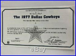 1977 Dallas Cowboys Danbury Mint Figurine, Super Bowl XII Champions