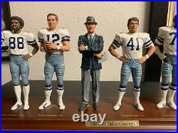 1977 Dallas Cowboys Super Bowl Champions Danbury Mint Figurines, no CO