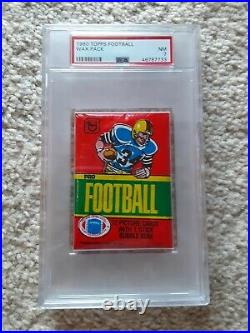 1978 1979 1980 Topps Football Wax Pack Lot PSA graded sealed unopened 3 packs NM