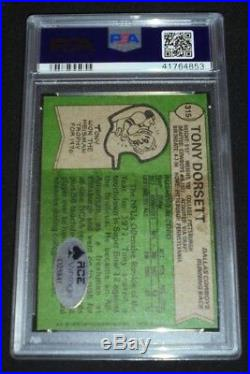 1978 Topps #315 Tony Dorsett Signed Rookie Card Autograph RC Auto PSA/DNA HOF