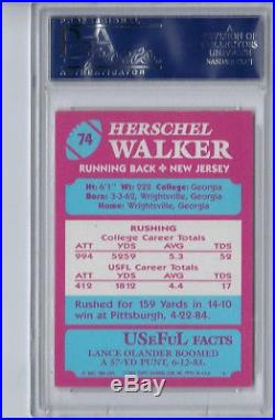 1984 Topps USFL Herschel Walker Rookie Autograph PSA DNA Auto Signed RC NFL