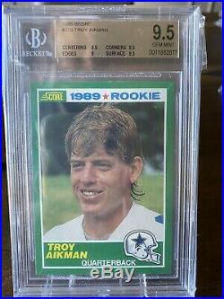 1989 Score Troy Aikman Rookie BGS 9.5 #270 PSA 10 $600+