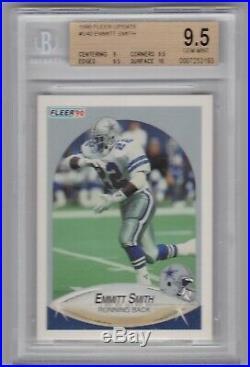 1990 Fleer Update #U40 Emmitt Smith BGS 9.5 Gem Mint RC Dallas Cowboys HOF