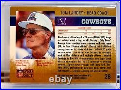 1990 Pro Set Error/Test Tom Landry/Andre Reed Wrongback Extremely Rare 1/1 Read