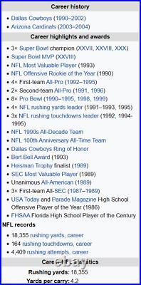 1990 Score Supplemental #101T Emmitt Smith PSA 10 rare HOF Dallas Cowboys RC