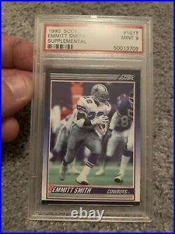 1990 Score Traded Supplemental #101T Emmitt Smith Cowboys RC Rookie HOF PSA 9