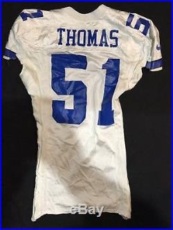 1990s Broderick Thomas Dallas cowboys Nebraska Game Used Worn Jersey