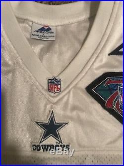 1994 Apex Dallas Cowboys Authentic NFL Jersey 75th Patch L Apex Troy Aikman