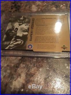 1998-1999 3 Card 1/1 Masterpiece Showcase Focus UD Troy Aikman NOT Dak Prescott