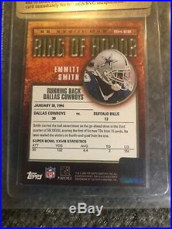 2002 Topps Emmitt Smith Auto Ring Of Honor Very Nice Autograph