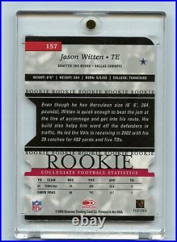 2003 Donruss Elite #157 JASON WITTEN rookie Card Auto /125 Dallas Cowboys