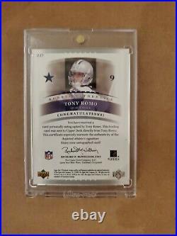 2003 SP Authentic Tony Romo RC Rookie Auto Autograph #/1200 Dallas Cowboys