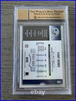 2003 Tony Romo Playoff Contenders Season Ticket Auto Rookie #592/999 BGS 9.5/10