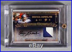 2007 National Treasures Roger Staubach Signed Game-Used Jersey Card Cowboys 7/25