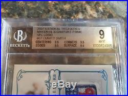 2007 Playoff National Treasures EMMITT SMITH NFL Shield Logo #d 1/1 BGS 9/10
