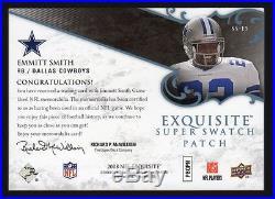 2008 Upper Deck Exquisite Emmitt Smith Super Swatch Patch #5/5 Cowboys
