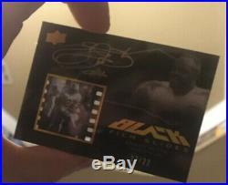 2009 Upper Deck UD Black Film Slides Emmitt Smith Auto Dallas Cowboys #d /22