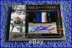 2010 Absolute Troy Aikman Tools Of The Trade Jersey Patch Autograph Cowboys/5