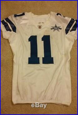 2010 Roy Williams (WR) Game Used Dallas Cowboys Jersey! 50th Patch! LOA