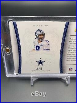 2011 National Treasures Tony Romo /5 Game Used Patch Auto Colossal SSP Cowboys