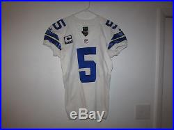 2013 Dallas Cowboys Dan Bailey Game Worn / Game Used Jersey Cowboys Coa
