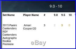 2015 Panini Contenders Sp #/20 Amari Cooper Rc Rookie Auto Bgs 9.5/10 Pop 3