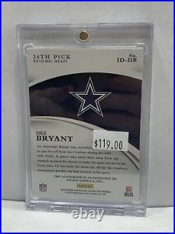 2015 Panini Immaculate NFL Draft 2010 Dez Bryant Auto Dallas Cowboys