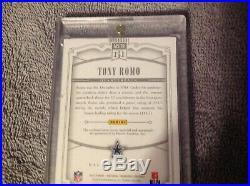 2015 Panini National Treasures Tony Romo Game Patch Auto /15 DALLAS COWBOYS