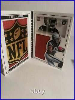 2015 Playbook Amari Cooper RC rookie Dallas Cowboys NFL Logo Booklet #1/1 NICE