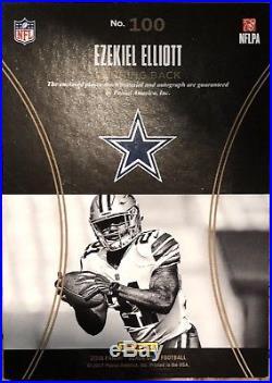 2016 Black Gold Football Ezekiel Elliott Cowboys Patch Auto /99