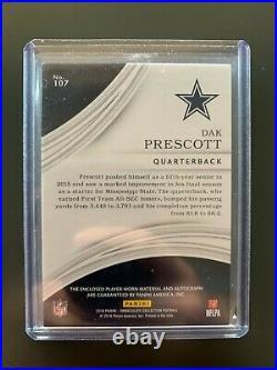 2016 Dak Prescott Immaculate Rookie Patch Auto RPA Dallas Cowboys 57/99