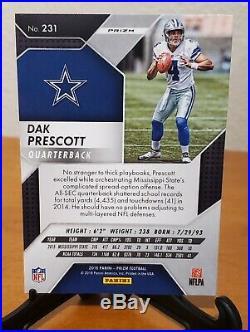 2016 Dak Prescott Panini Prizm Silver #231 RC Rookie Dallas Cowboys