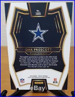 2016 Dak Prescott Panini Select Silver Prizm RC Rookie Dallas Cowboys
