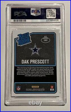 2016 Donruss Optic DAK PRESCOTT #162 Rookie RC PSA 10 GEM MT Dallas Cowboys