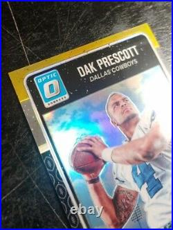 2016 Donruss Optic Rated Rookies Gold /10 Dak Prescott #162 Rookie