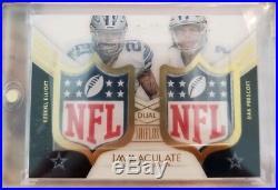 2016 Immaculate Dual NFL Rookie Shield Ezekiel Elliott Dak Prescott true 1/1