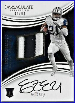 2016 Immaculate Ezekiel Elliott Rookie Patch Auto /99 Dallas Cowboys GAME USED