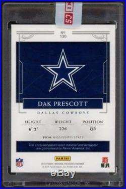 2016 National Treasures Dak Prescott Ultra Rare Rookie AUTO/Patch 1/10