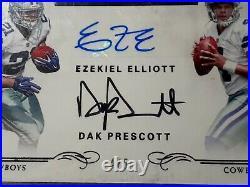 2016 National Treasures Ezekiel Elliott Dak Prescott Cowboys RC Rookie AUTO 4/5
