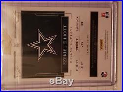 2016 National Treasures Ezekiel Elliott Rookie Patch Auto /99 Rare Cowboys Star